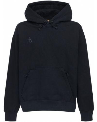 Czarna bluza z kapturem bawełniana Nike Acg