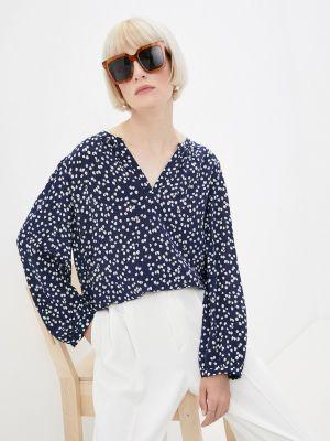 Синяя блузка с длинными рукавами Gerard Darel