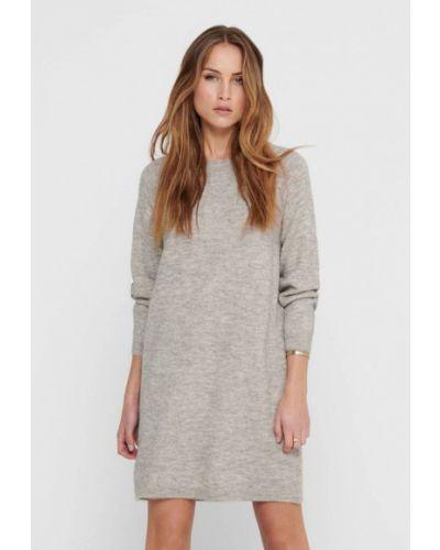 Серое вязаное платье Only