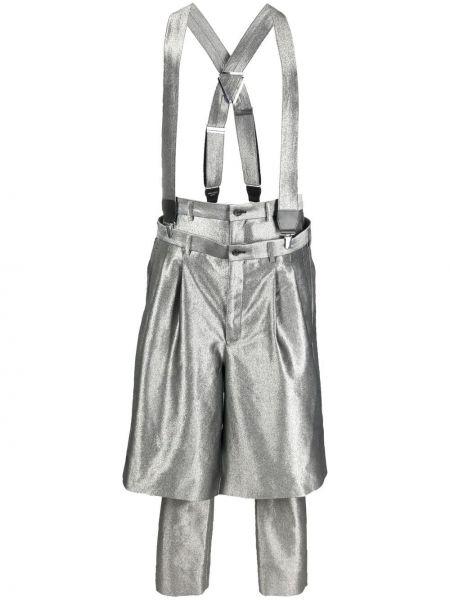 Spodnie z wysokim stanem skorzane Comme Des Garcons Homme Plus