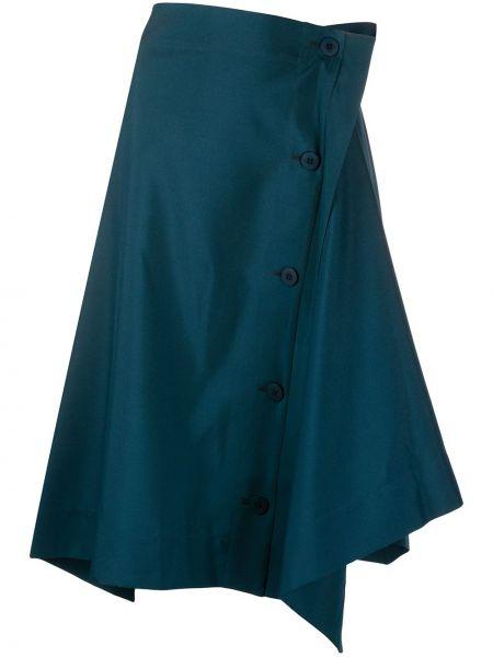 Zielona spódnica asymetryczna 132 5. Issey Miyake