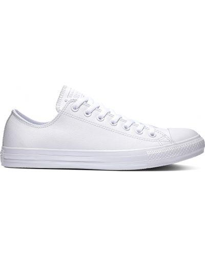 Белый кожаный топ на шнурках Converse