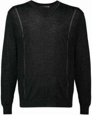 Черный свитер с вырезом Mackintosh 0002