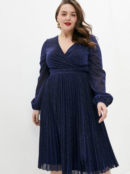 Синее повседневное платье Goddiva Size Plus