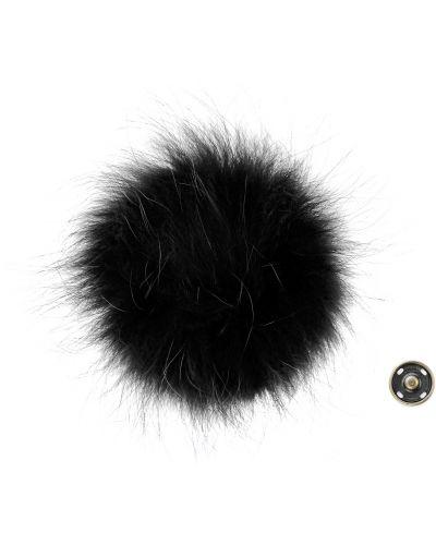 Czarny kapelusz z futerkiem Primamoda