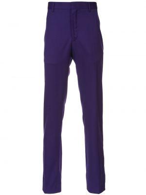 Niebieskie spodnie klasyczne z wysokim stanem bawełniane Calvin Klein 205w39nyc