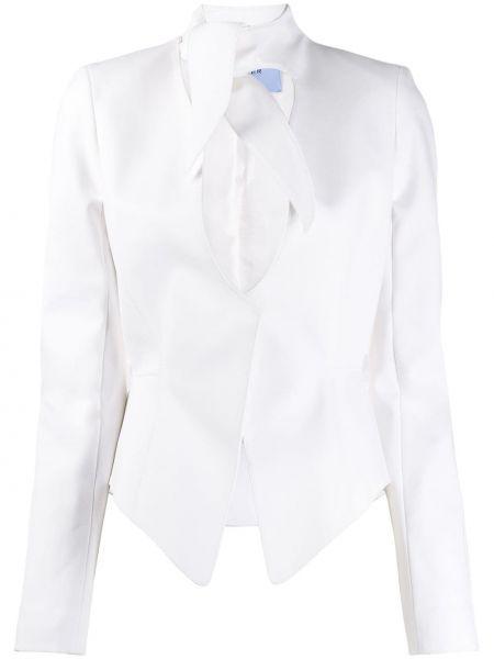 Приталенный белый пиджак с вырезом Mugler