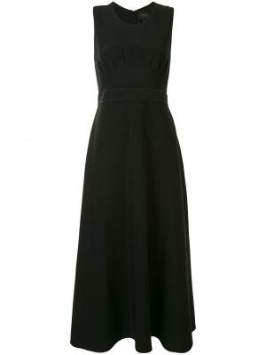 Черное платье миди без рукавов с вырезом Giambattista Valli