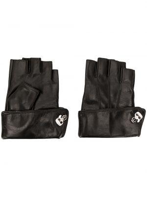 Rękawiczki bez palców - czarne Karl Lagerfeld