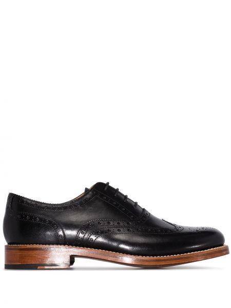 Черные кожаные туфли из натуральной кожи Grenson
