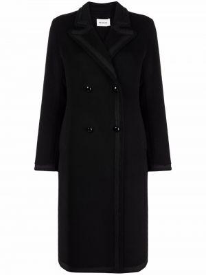 Черное шерстяное пальто P.a.r.o.s.h.