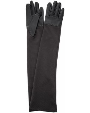 Перчатки длинные серые Eleganzza