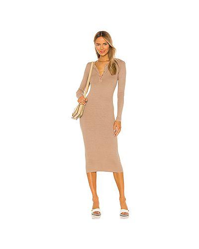 Шелковое платье миди на пуговицах Enza Costa