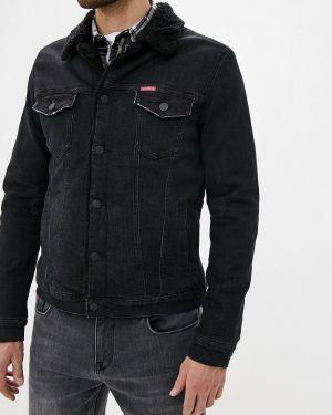 Джинсовая куртка черная осенняя Colin's
