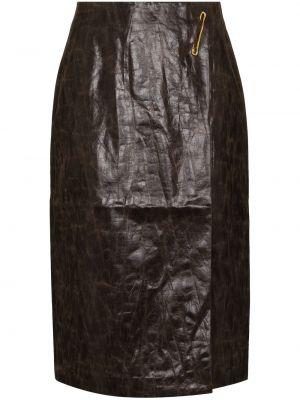 Brązowa spódnica ołówkowa bawełniana Rejina Pyo