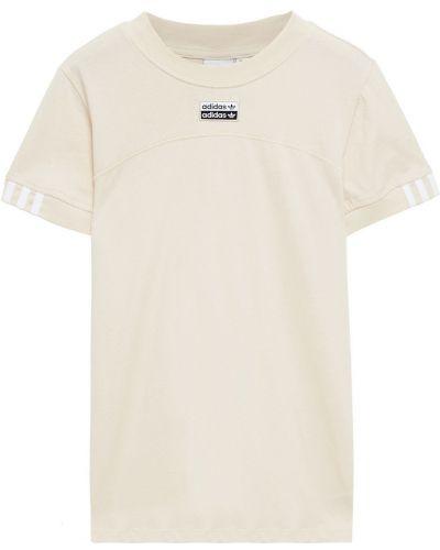 Ватная хлопковая футболка с вышивкой Adidas Originals