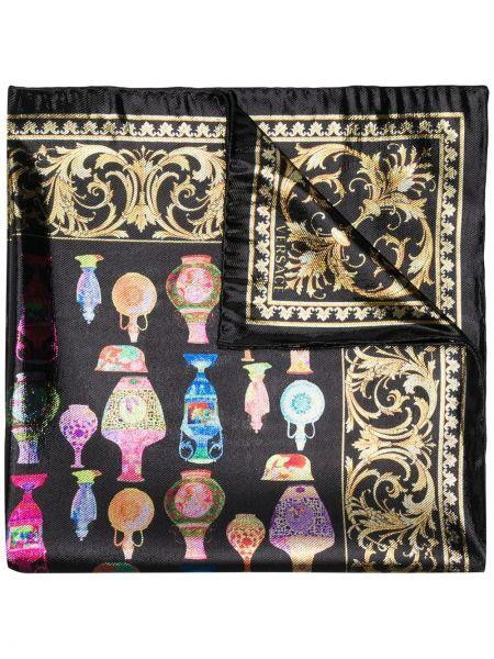 Szalik prążkowany jedwab Versace
