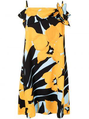 Платье в цветочный принт - желтое Paule Ka