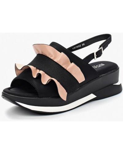 Черные босоножки на каблуке Rio Fiore