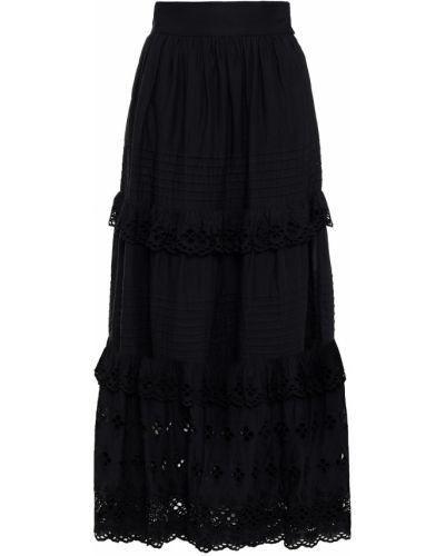 Хлопковая плиссированная черная юбка макси Antik Batik