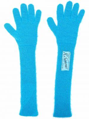 Rękawiczki wełniane - niebieskie Raf Simons