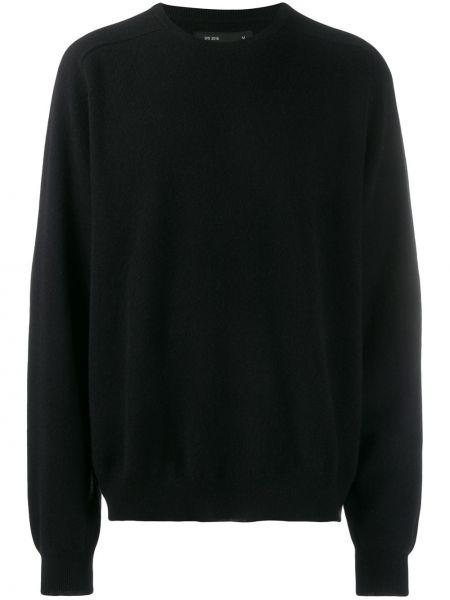 Prążkowana z kaszmiru czarna bluza Frenckenberger