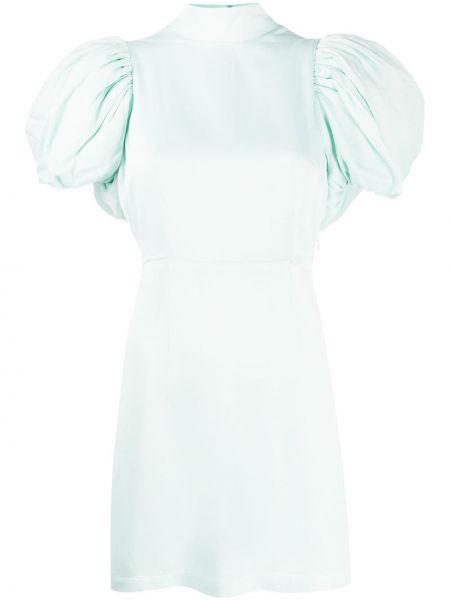 Платье мини зеленый с воротником Rotate