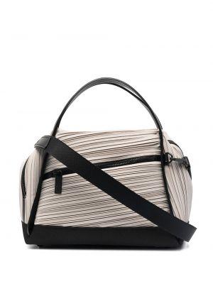 Czarna torba na ramię z nylonu Pleats Please Issey Miyake