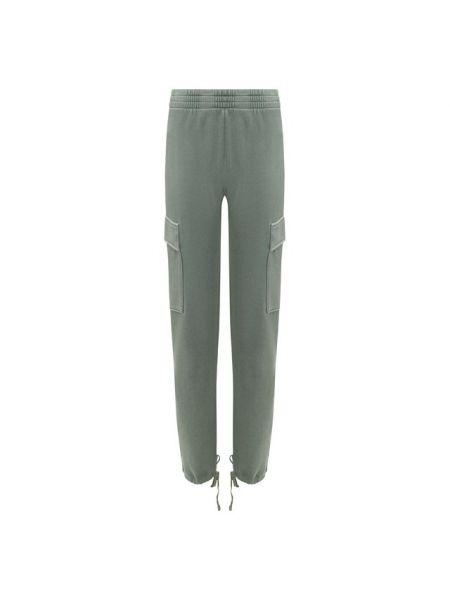 Хлопковые брюки - зеленые Wildfox