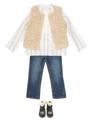 Хлопковая блузка - белая Bonpoint