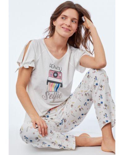 Рубашка хлопковая трикотажная Etam