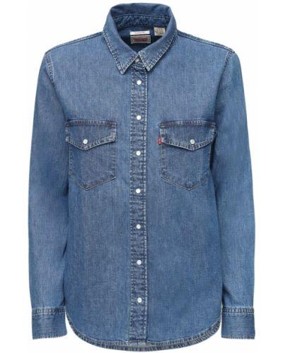 Хлопковая синяя джинсовая рубашка с карманами Levi's Red Tab