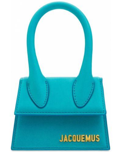 Бирюзовая сумка металлическая Jacquemus