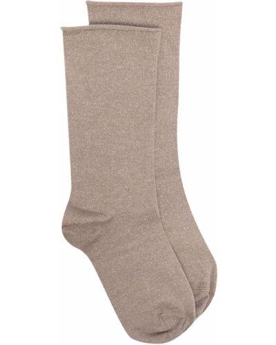 Шелковые носки без застежки Brunello Cucinelli