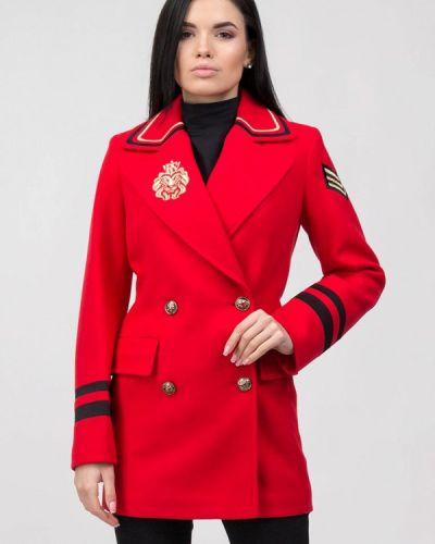 Красное пальто двубортное Raslov
