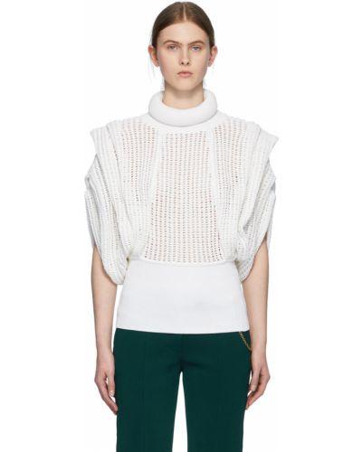 Biały golf bez rękawów bawełniany Givenchy