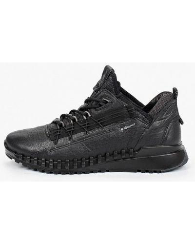 Кожаные черные кроссовки Ecco