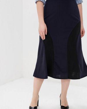 Юбка широкая синяя Prewoman
