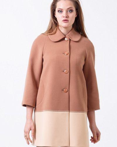 Коричневое пальто весеннее Sergio Cotti