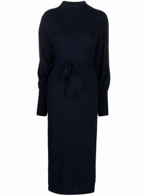 Платье макси с длинными рукавами - синее Essentiel Antwerp