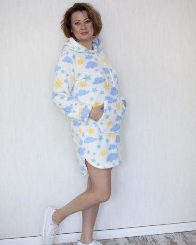 Платье мини короткое - белое Lily