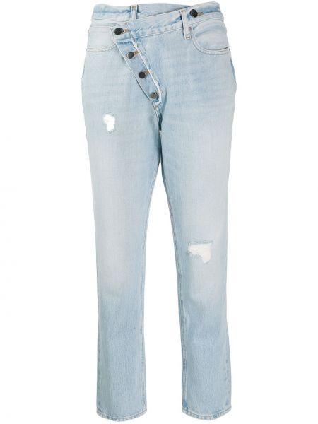 Прямые джинсы укороченные на пуговицах Frame
