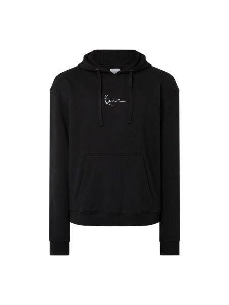 Czarna bluza z kapturem bawełniana Karl Kani