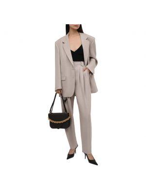 Шелковый пиджак - бежевый Magda Butrym