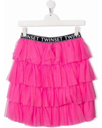 Spódniczka mini tiulowa - różowa Twinset Kids