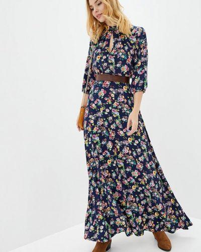 Прямое синее платье Genevie