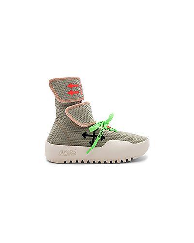 Кроссовки на липучках на шнуровке Off-white