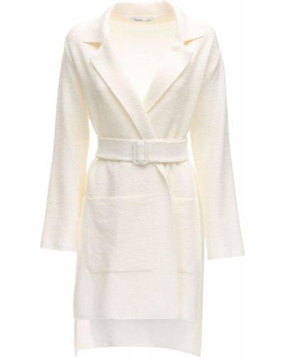 Льняная куртка с поясом с заплатками Agnona