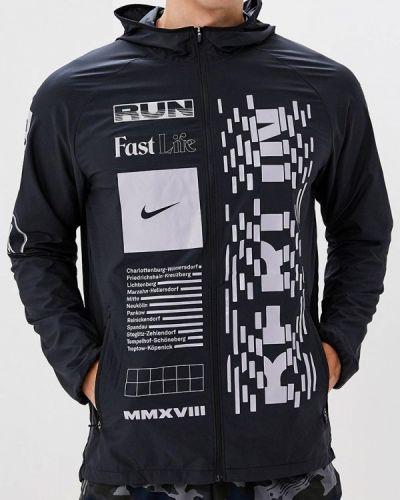 Черная куртка осенняя Nike