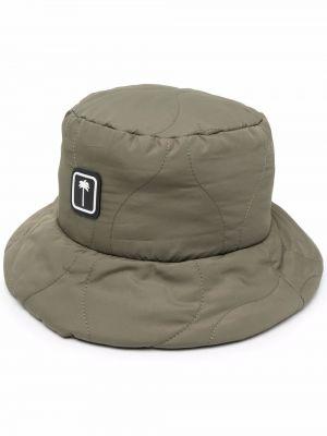 Zielona czapka bawełniana Palm Angels